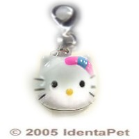 Hello Kitty Adora-Bell Charm with Bow - 3/4""
