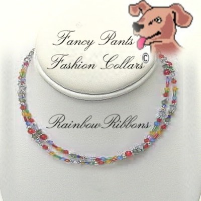 "Rainbow Ribbons - Fits 13"" to 16"""