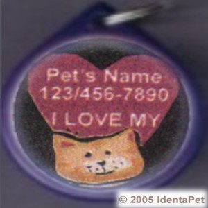 I Love My Cat (HEART) GumDrop Pet ID Tag