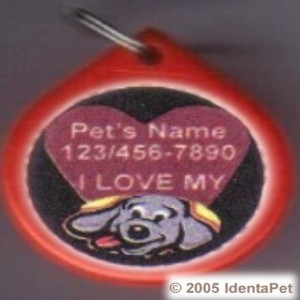 I Love My Dog (HEART) GumDrop Pet ID Tag