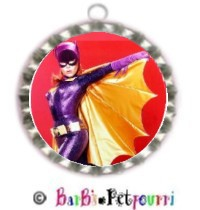 Fancy Pants Fashion Bottle Cap (SILVER) Pet ID Tag ~ BatGirl/Woman