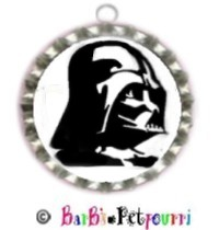 Fancy Pants Fashion Bottle Cap (SILVER) Pet ID Tag ~ Darth Vader