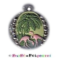 Fancy Pants Fashion Jewelry Cameo with Glitter & Border Pet ID Pendant Tag