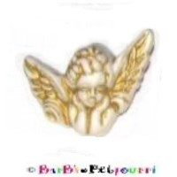 FANCY PANTS FASHION JEWELRY CUSTOM ANGEL with GOLD ACCENTS (3-D Three Dimensional) Pet ID Tag ~ WITH