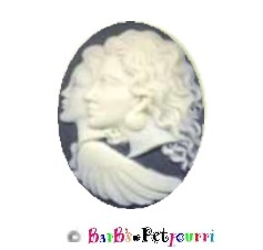 FANCY PANTS FASHION CAMEO JEWELRY PET ID PENDAT TAG ~ GUARDIAN ANGEL ~ WITH PET ID INFORMATION!