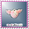 Fancy Pants Fashion Jewelry Pink Enamel Angel Heart with Wings &
