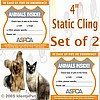 PET EMERGENCY STATIC CLING WINDOW DECAL - Set of 2