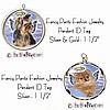 Fancy Pants Fashion Jewelry Pendant Angel Breed Pet ID Tags ~ Your Choice of 