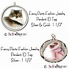 Fancy Pants Fashion Jewelry Pendant Breed Pet ID Tags ~ Your 