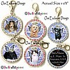 Fancy Pants Fashion Jewelry Custom Rhinestone YOUR PET'S PHOTO Pendant ID Tag WITH YOUR PET'S IMAGE AS PERSONAL GUARDIAN ANGEL!